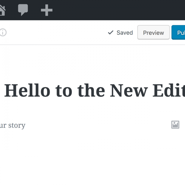 The new Gutenberg editor is coming…